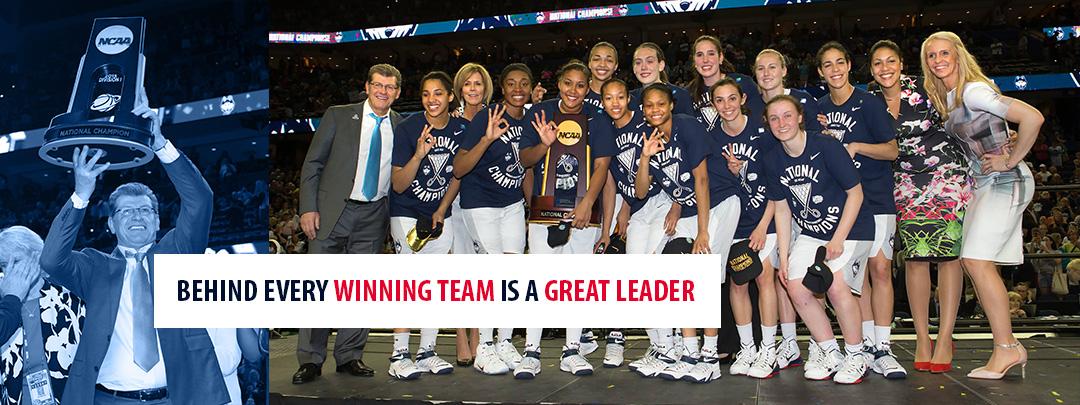 Geno Auriemma NCAA UConn Women's Basketball 2015 Champions
